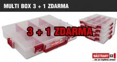 Krabička/kufřík na nástrahy - MULTI BOX 3 + 1 ZDARMA