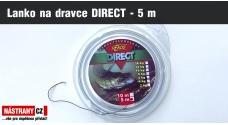 Jemné lanko pro návazce na dravce DIRECT - 5 m