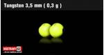 Wolframová hlavička 3,5 mm - fluo - 5 ks