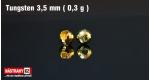 Wolframová hlavička 3,5 mm - gold - 5 ks