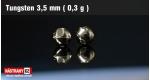 Wolframová hlavička 3,5 mm - nikl - 5 ks