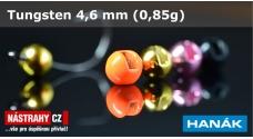 Wolframová hlavička 4,6 mm - 0,85 g - 5 ks