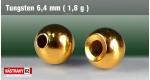 Wolframová hlavička 6,4 mm - GOLD 7 ks