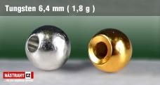 Wolframová hlavička 6,4 mm - 1,8 g - 7 ks