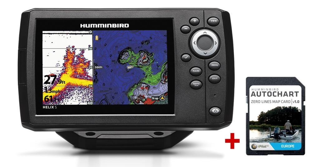 Humminbird HELIX 5 CHIRP GPS G2 + karta AUTOCHART ZDARMA
