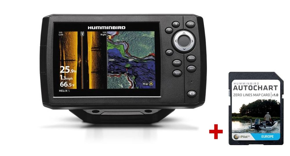 Humminbird HELIX 5x CHIRP SI GPS G2 + karta AUTOCHART ZDARMA