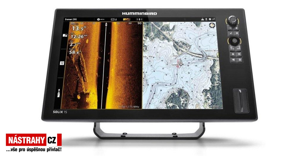 Humminbird SOLIX 12 CHIRP MSI+ GPS G2 + karta AUTOCHART ZDARMA