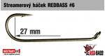Streamer háček REDBASS #6, 10 ks