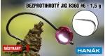 Wolfram BL jig H360 #6, 5 ks, MPINK, 1,5 g
