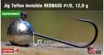 BL Jig Teflon Invisible #1/0 - 12,0 g, 5 ks +6 Kč