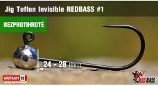 Bezprotihrotá jigová hlavička Teflon Invisible REDBASS # 1, 5 ks