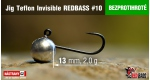 BL Jig Teflon Invisible #10 - 2,0 g, 5 ks