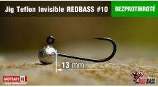 Bezprotihrotá jigová hlavička Teflon Invisible REDBASS # 10, 5 ks