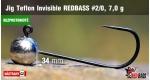 BL Jig Teflon Invisible #2/0 - 7,0 g, 5 ks