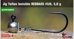 BL Jig Teflon Invisible #3/0 - 5,0 g, 5 ks