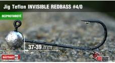 Bezprotihrotá jigová hlavička Teflon Invisible REDBASS # 4/0, 5 ks