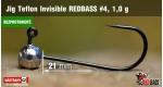 BL Jig Teflon Invisible #4 - 1,0 g, 5 ks