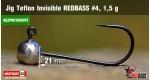 BL Jig Teflon Invisible #4 - 1,5 g, 5 ks