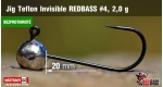 BL Jig Teflon Invisible #4 - 2,0 g, 5 ks