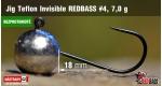 BL Jig Teflon Invisible #4 - 7,0 g, 5 ks