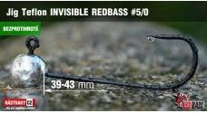 Bezprotihrotá jigová hlavička Teflon Invisible REDBASS # 5/0, 5 ks