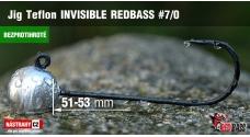 Bezprotihrotá jigová hlavička Teflon Invisible REDBASS # 7/0, 5 ks