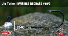 Jigová hlavička Teflon Invisible REDBASS # 10/0, 5 ks