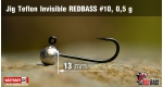Jig Teflon Invisible RedBass #10 - 0,5 g, 5 ks