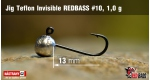 Jig Teflon Invisible RedBass #10 - 1,0 g, 5 ks
