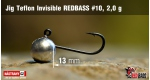 Jig Teflon Invisible RedBass #10 - 2,0 g, 5 ks