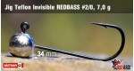 Jig Teflon Invisible #2/0 - 7,0 g, 5 ks
