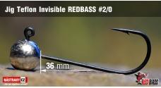 Jigová hlavička Teflon Invisible REDBASS # 2/0, 5 ks