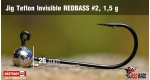 Jig Teflon Invisible RedBass #2 - 1,5 g, 5 ks