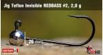 Jig Teflon Invisible RedBass #2 - 2,0 g, 5 ks