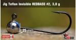 Jig Teflon Invisible RedBass #2 - 3,0 g, 5 ks