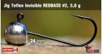 Jig Teflon Invisible RedBass #2 - 5,0 g, 5 ks