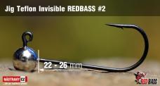 Jigová hlavička Teflon Invisible REDBASS # 2, 5 ks