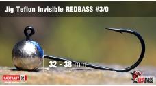 Jigová hlavička Teflon Invisible REDBASS # 3/0, 5 ks