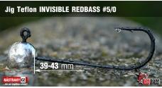 Jigová hlavička Teflon Invisible REDBASS # 5/0, 5 ks