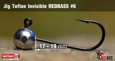 Jigová hlavička Teflon Invisible REDBASS # 6, 5 ks