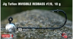 Jig Teflon Invisible REDBASS #7/0 - 5 ks, 10 g