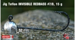 Jig Teflon Invisible REDBASS #7/0 - 5 ks, 15 g