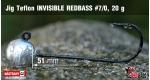 Jig Teflon Invisible REDBASS #7/0 - 5 ks, 20 g +10 Kč