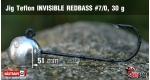 Jig Teflon Invisible REDBASS #7/0 - 5 ks, 30 g +10 Kč