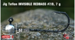 Jig Teflon Invisible REDBASS #7/0 - 5 ks, 7 g