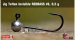 Jig Teflon Invisible RedBass #8 - 0,5 g, 5 ks