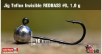 Jig Teflon Invisible RedBass #8 - 1,0 g, 5 ks