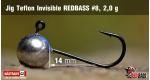 Jig Teflon Invisible RedBass #8 - 2,0 g, 5 ks