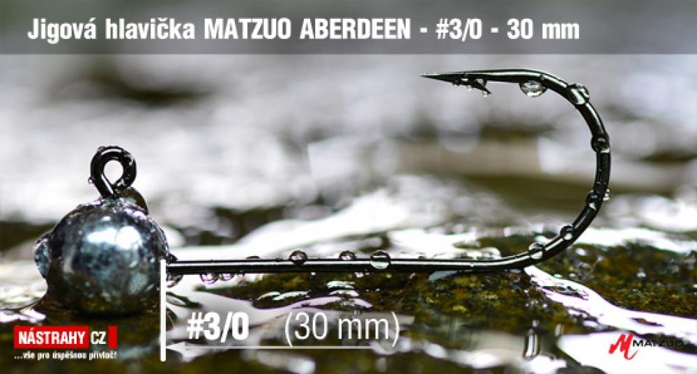 Jigová hlavička Matzuo Aberdeen vel. 3/0 - 30 mm - 5 ks - zlatá barva háčku