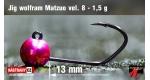 #8 fluo pink/black-h 1,5 g, 5 ks